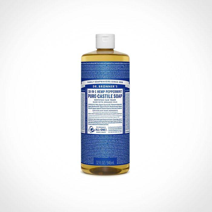 Dr. Bronner's Peppermint Pure Castile Liquid Soap