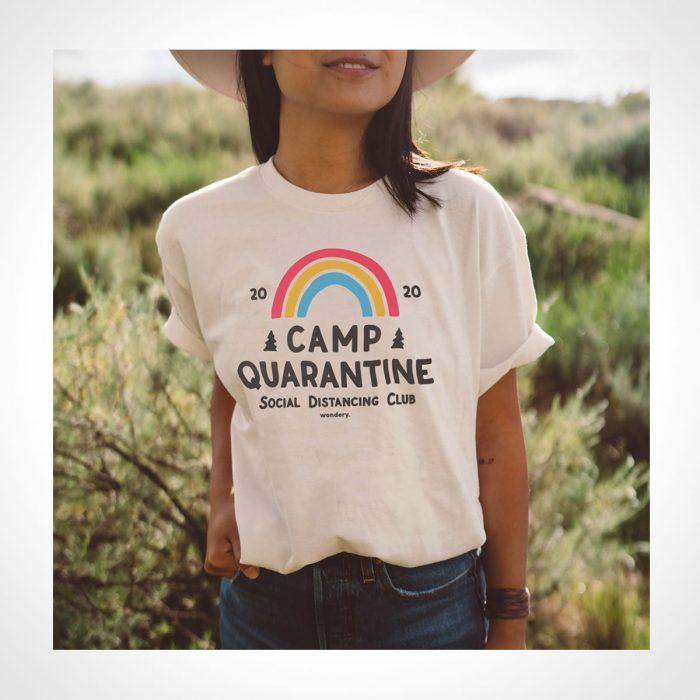 Wondery Limited Edition Camp Quarantine Social Distancing Tee