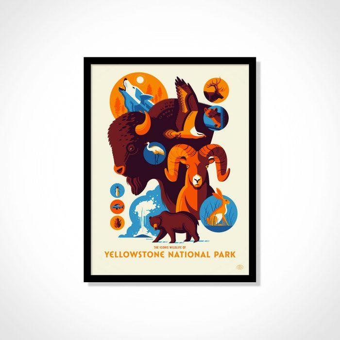 Iconic Wildlife National Park Poster