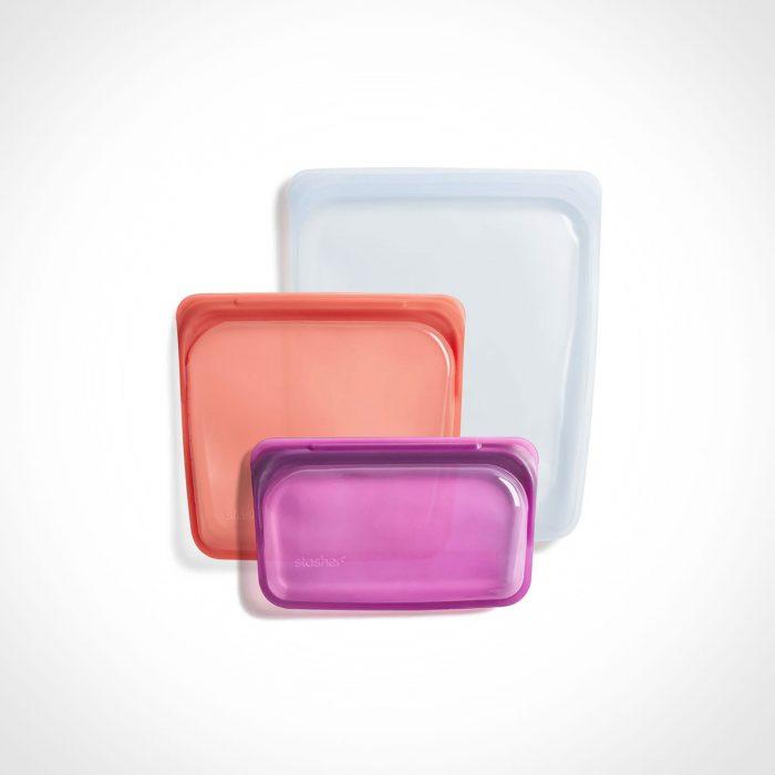 Stasher Bags Reusable Silicone Mojave Trio