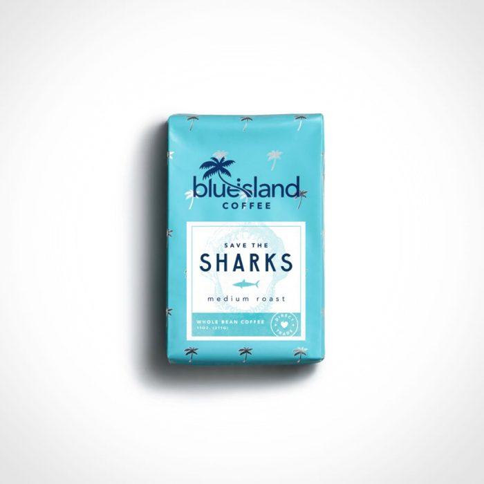 Blue Island Save the Sharks Coffee