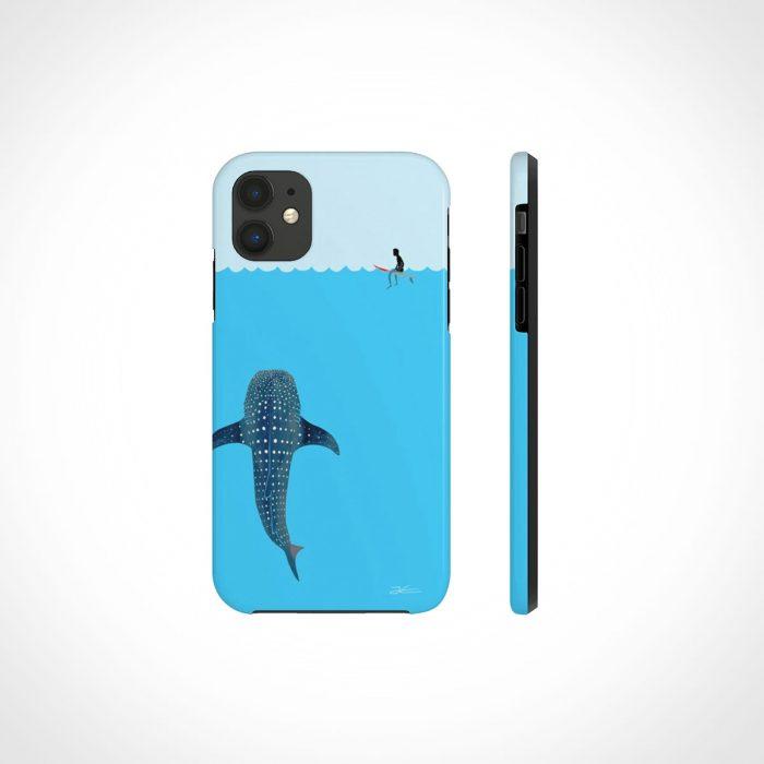 Jonas Claesson Whale Shark Slim Phone Case